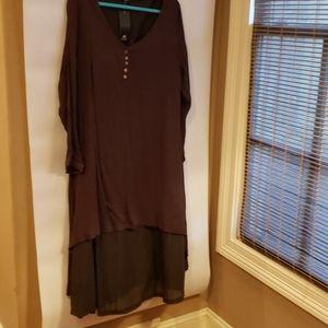 4/$25 Anself 2XL Brown Dress